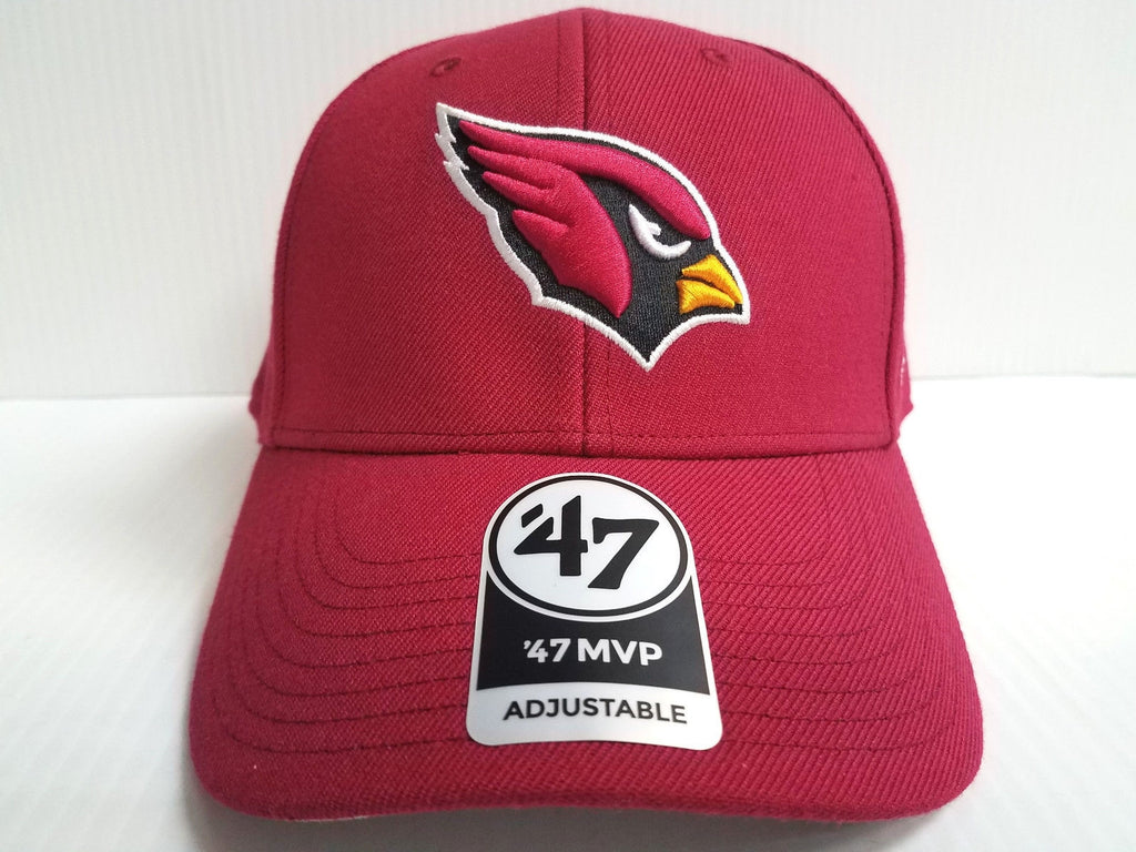 Arizona Cardinals 47 Brand Cap Hook & Loop Adjustable MVP Red Hat NFL