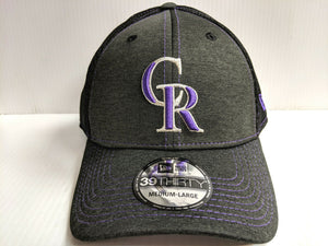 Colorado Rockies Cap New Era 39Thirty Stretch Fit Mesh Classic Shade Neo Hat