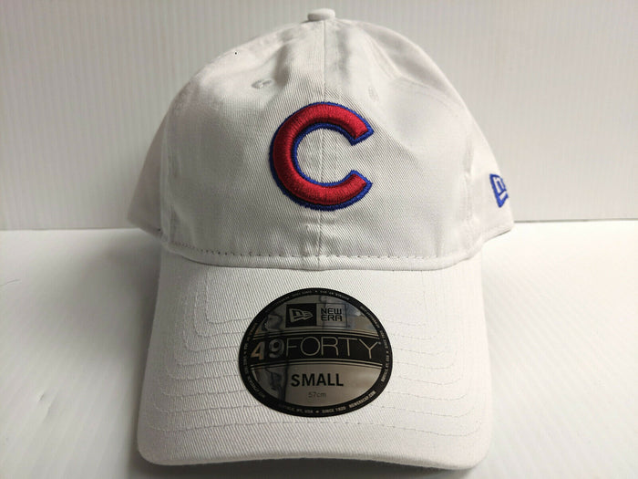Chicago Cubs New Era Cap 49Forty Core Fit Fitted Unstructured White Hat MLB