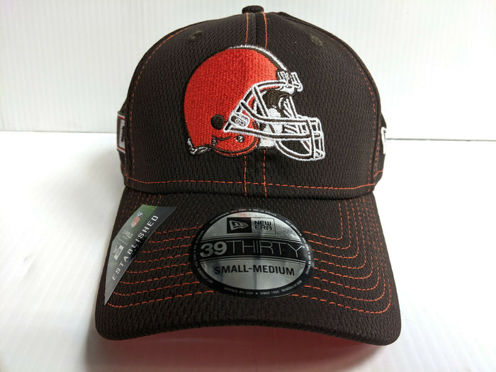 Cleveland Browns Cap New Era 39Thirty Stretch Fit 2019 Road Sideline Hat
