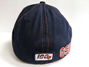 Chicago Bears Cap New Era 39Thirty Stretch Fit Navy 2019 Road Sideline Hat
