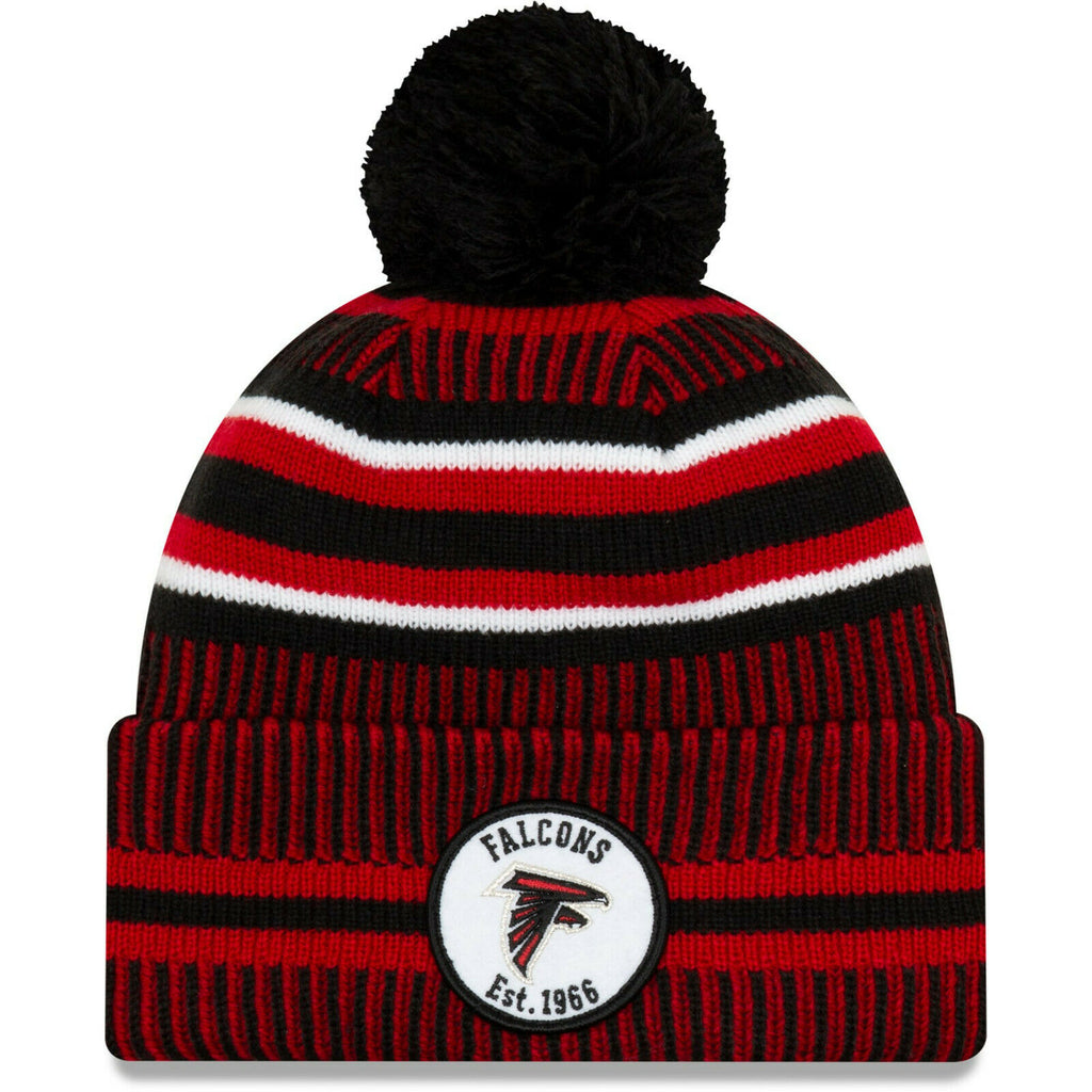 Atlanta Falcons Knit Hat New Era 2019 Sport On Field Sideline Home Cap NFL