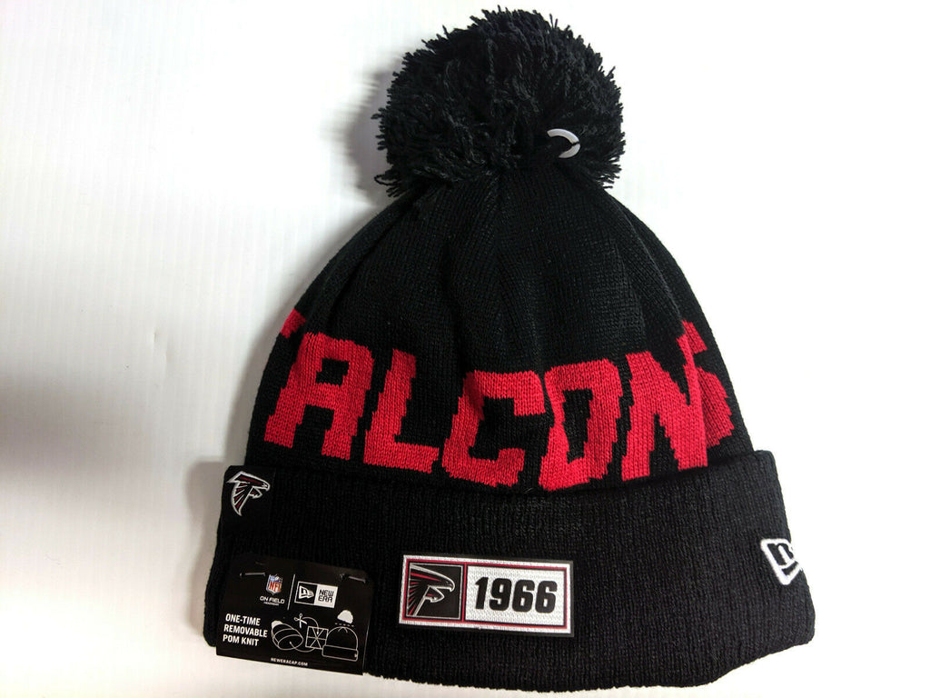 Atlanta Falcons Knit Hat New Era 2019 Sport On Field Sideline Road Cap NFL