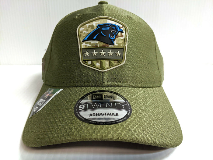 Carolina Panthers Cap New Era 9Twenty Adj 2019 Salute to Service Dad Hat