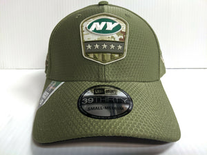 New York Jets Cap Era 39Thirty Stretch Fit 2019 Salute to Service Hat NFL