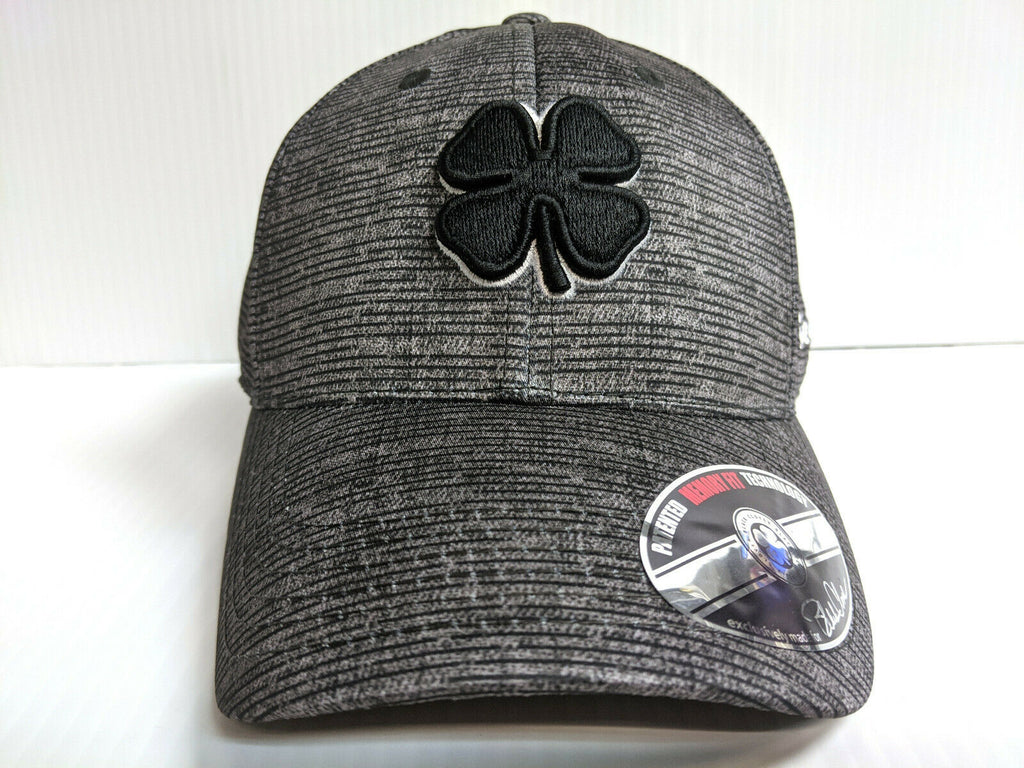 Black Clover Cap Crazy Luck 2 Heathered Gray Stretch Fit Golf Hat Live Lucky