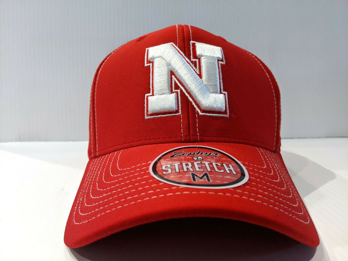 Nebraska Cornhuskers Cap Zephyr Aperature Stretch Fit Fitted Hat NCAA