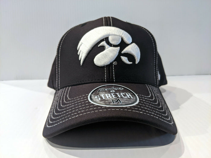 Iowa Hawkeyes Cap Zephyr Aperature Stretch Fit Fitted Hat NCAA