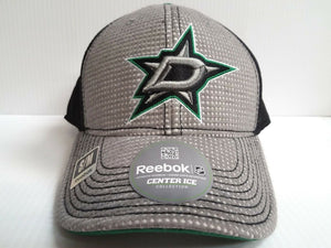 Dallas Stars Reebok NHL 2016 Center Ice Stretch Fitted Fit Gray Hat