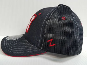 YOUTH Nebraska Huskers Cap Zephyr Stretch Fit Mesh Headlight Foil Hat
