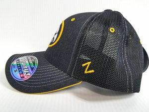 Iowa Hawkeyes Cap Zephyr Stretch Fit Fitted Mesh Headlight Foil Hat NCAA