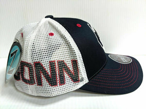 UCONN Huskies Cap Zephyr 2 Tone Reload Stretch Fit Fitted Hat