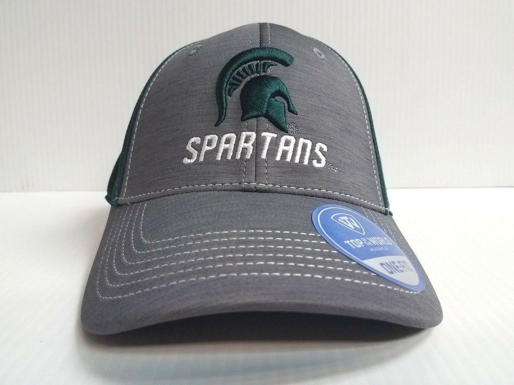 Michigan State Spartans Cap TOW Upright Stretch Memory Fit Fitted Hat NCAA