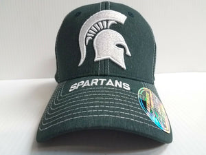 Michigan State Spartans Cap Zephyr Stretch Fit Fitted Center Court Heathered Hat