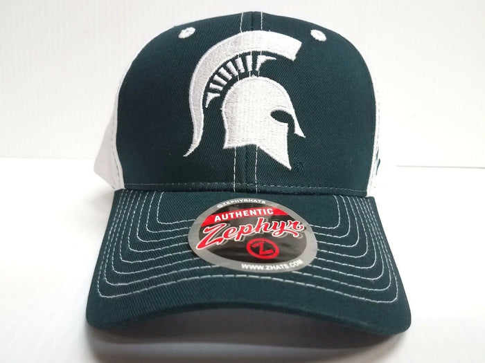 Michigan State Spartans Cap Zephyr Adjustable Snapback Staple Hat NCAA