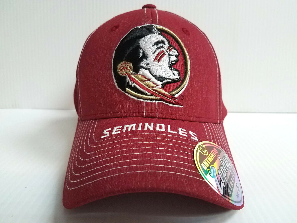 Florida State Seminoles Cap Zephyr Stretch Fit Fitted Center Court Heathered Hat