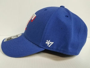 Texas Rangers 47 Brand Cap Hook & Loop Adjustable Basic MVP Hat MLB