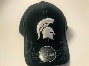 Michigan State Spartans Cap Zephyr Aperature Stretch Fit Fitted Hat NCAA