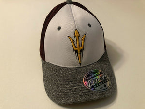 Arizona State Sun Devils Cap Zephyr Stretch Fit Fitted Graphite Mesh Hat NCAA