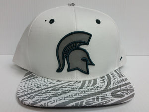 Michigan State Spartans Zephyr Cap Flat Brim Snapback Lahaina Hat Reflective