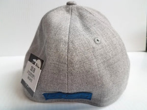 Black Clover Cap BC Style #1 Stretch Fit  Heathered Gray  Golf Hat Live Lucky
