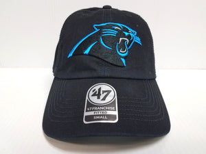 Carolina Panthers New Franchise '47 Brand Fitted Cap Unstructured Black Hat NFL