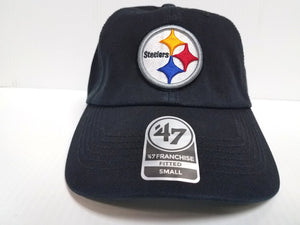 Pittsburgh Steelers Franchise '47 Brand Fitted Cap Unstructured Black Hat NFL