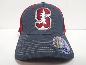 Stanford Cardinal Cap Zephyr Stretch Fit Fitted Grid 2 Tone Hat NCAA
