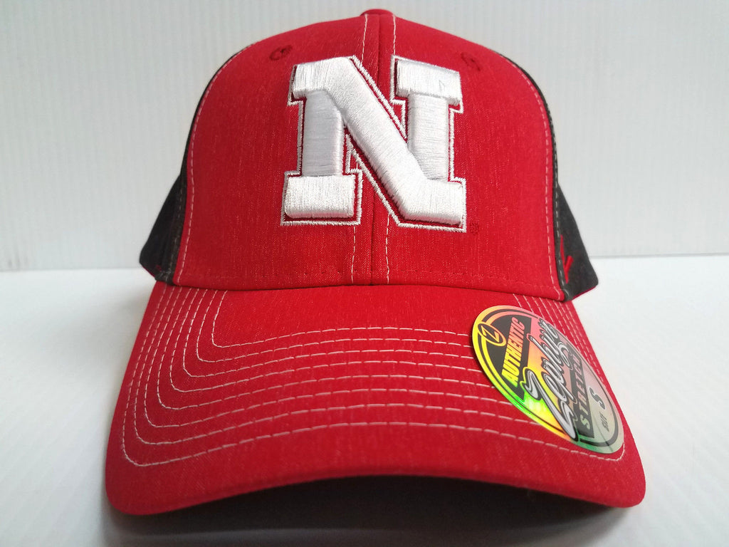 Nebraska Huskers Cap Zephyr Stretch Fit Fitted Heathered Dusk Hat NCAA