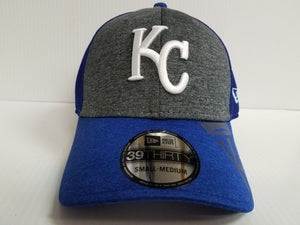 Kansas City Royals Cap New Era 39Thirty Stretch Fit Shadow Gleam Hat MLB