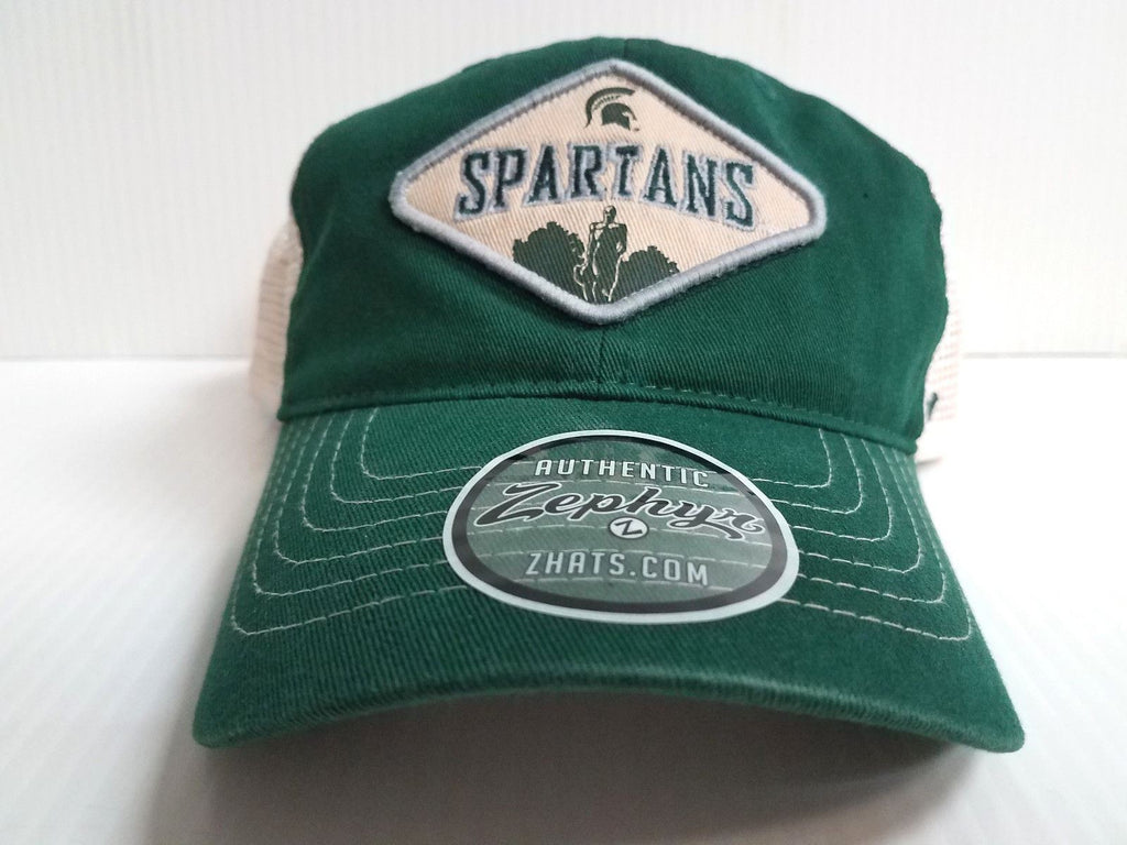 Michigan State Spartans Cap Zephyr Adjustable Mesh Snapback Roadside Trucker Hat