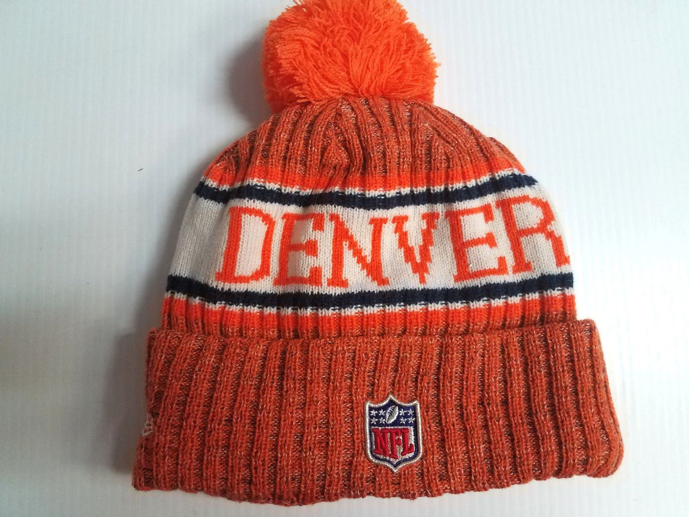 the latest 48a9e 6f713 ... nfl sideline cold weather official sport ireland denver broncos new era  knit hat on field 2018 sideline beanie stocking cap 19f42 ca0ea ...