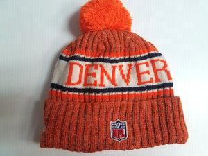Denver Broncos New Era Knit Hat On Field 2018 Sideline Beanie Stocking Cap