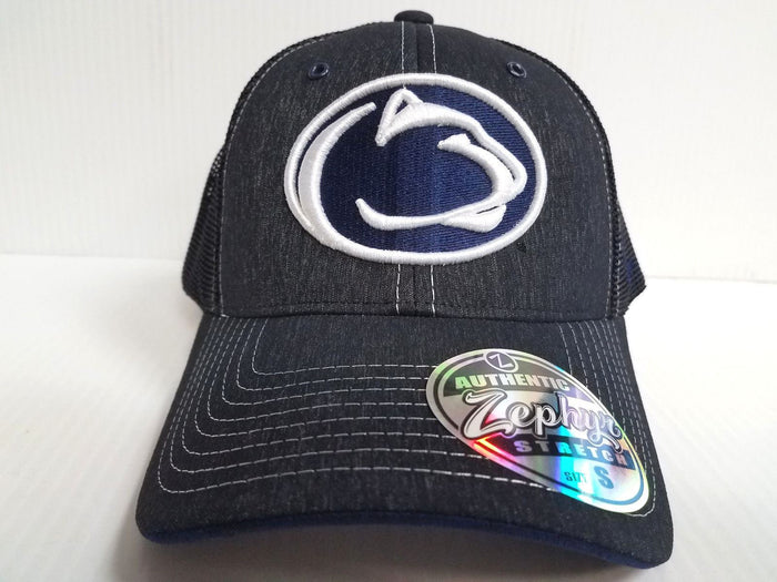 Penn State Lions Cap Zephyr Stretch Fit Fitted Mesh Headlight Foil Hat NCAA