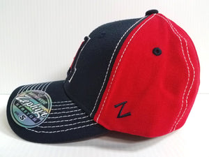 Arizona Wildcats Cap Zephyr Stretch Fit Fitted Chute 2 Tone Hat NCAA