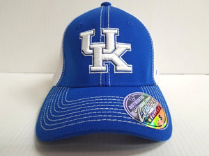 Kentucky Wildcats Cap Zephyr Stretch Fit Fitted Chute 2 Tone Hat NCAA