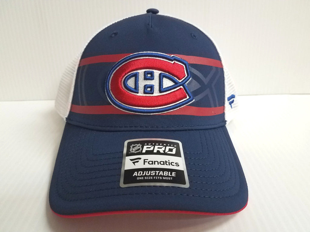 Montreal Canadiens Cap 2018 Authentic Pro Second Season Adjustable Mesh Hat