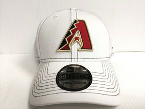 Arizona Diamondbacks Cap New Era 39Thirty Stretch Fit Mesh White Team Neo Hat