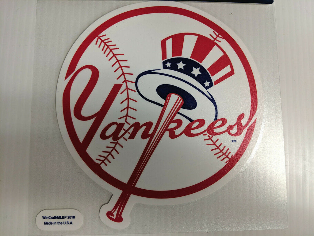 New York Yankees White Window Die Cut Decal Wincraft Sticker 8x8 MLB