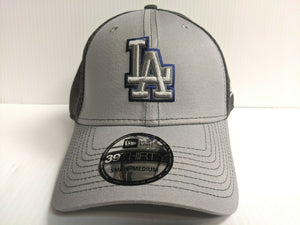 Los Angeles Dodgers Cap New Era 39Thirty Stretch Fit Mesh Grayed Out Neo Hat MLB