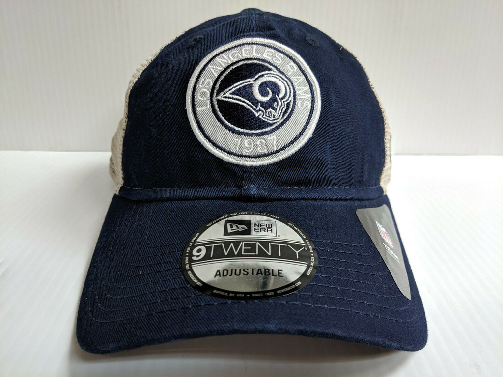Los Angeles Rams Cap New Era 9Twenty Est Circle Adjustable Mesh Trucker Hat