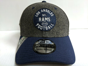 Los Angeles Rams Cap New Era 39Thirty Stretch Fit 2019 Home Sideline 1930s Hat