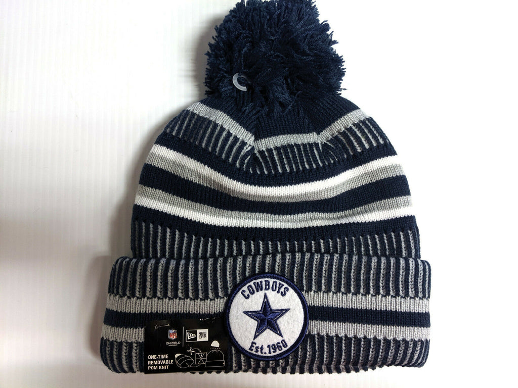 Dallas Cowboys Knit Hat New Era 2019 Sport On Field Sideline Home Cap NFL