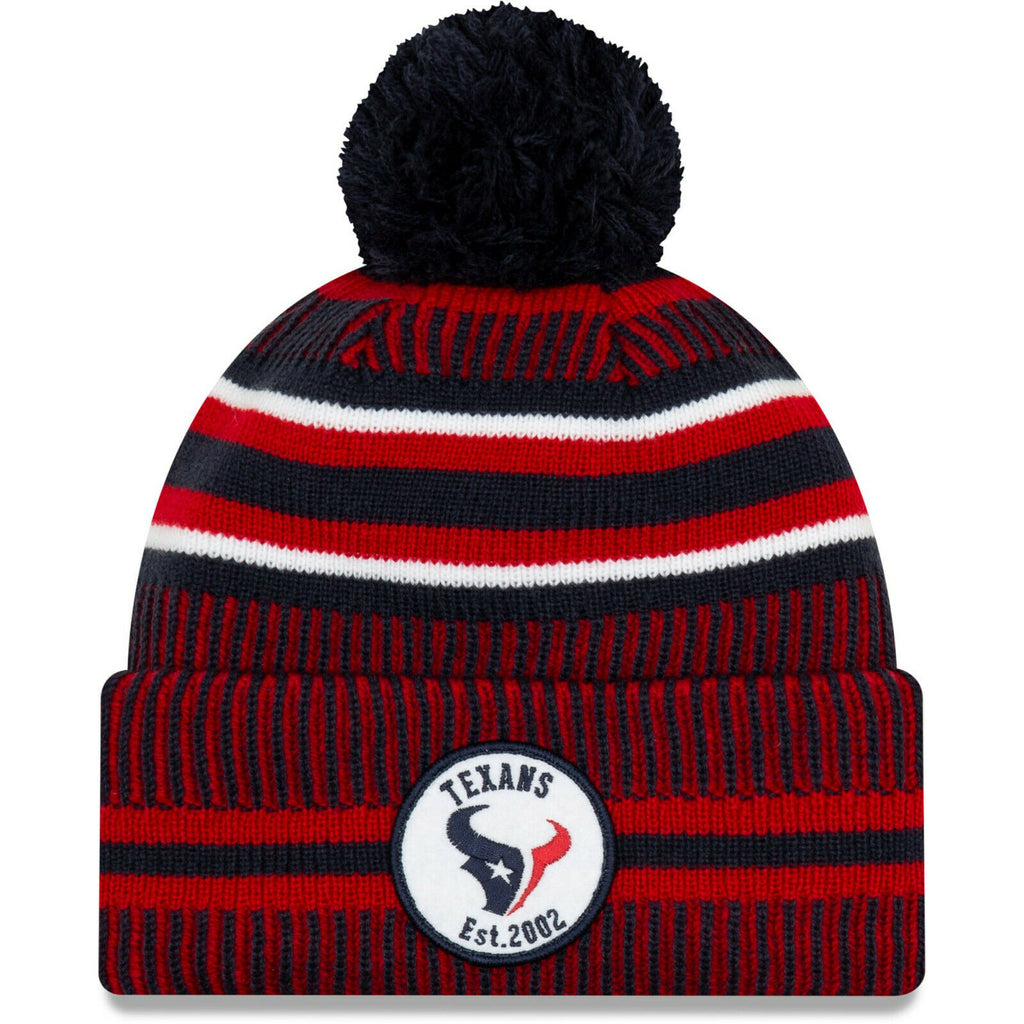 Houston Texans Knit Hat New Era 2019 Sport On Field Sideline Home Cap NFL