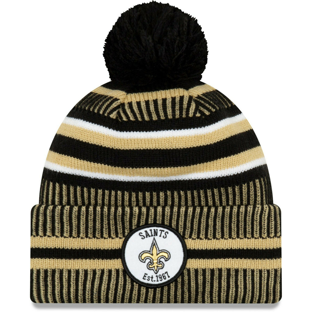 New Orleans Saints Knit Hat New Era 2019 Sport On Field Sideline Home Cap NFL