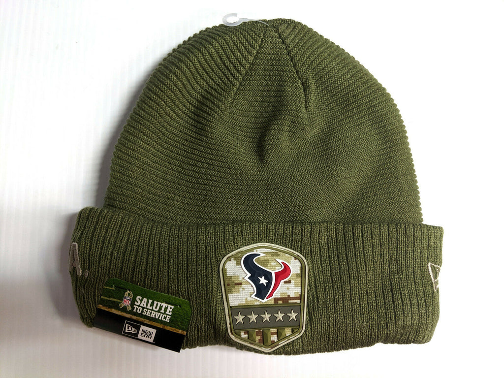Houston Texans Knit Hat New Era 2019 On Field Salute to Service Cap NFL