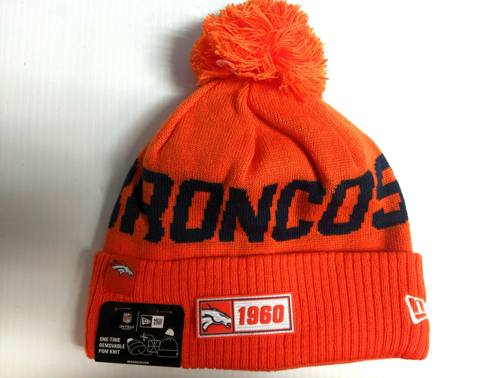 Denver Broncos Knit Hat New Era 2019 Sport On Field Sideline Road Cap NFL