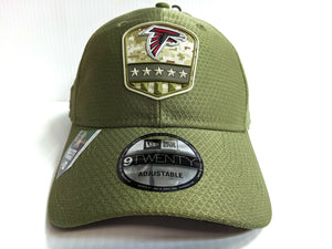 Atlanta Falcons Cap New Era 9Twenty Adjustable 2019 Salute to Service Dad Hat
