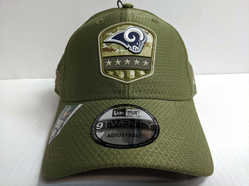 Los Angeles Rams Cap New Era 9Twenty Adj 2019 Salute to Service Dad Hat