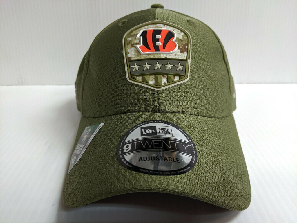 Cincinnati Bengals Cap New Era 9Twenty Adj 2019 Salute to Service Dad Hat